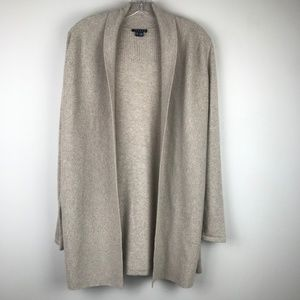 Theory Nobiz Open Duster Cardigan Sweater Cashmere
